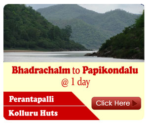 kolluru night stay, papikondalu bamboo huts